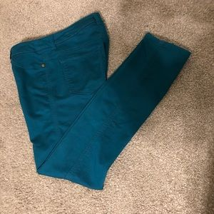 Style & Co teal woman's pants, 4P, like new